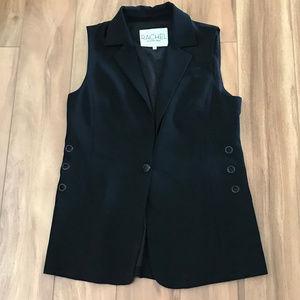 Rachel By Rachel Ray Black Vest Women's Size M